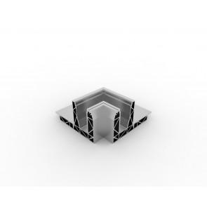 SB-O2 Binnenhoek compleet RVS Look (2 delen)